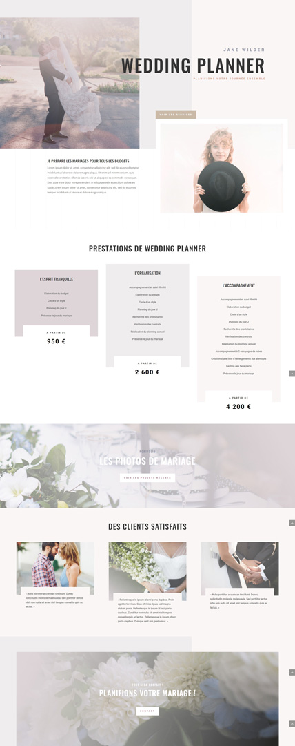 Template wordpress pour agence